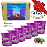 STYDDI 6 Pack Reusable K Cup,Refillable K-cup Mesh Coffee Filter(Single Cup) for Keurig 2.0 - Fits K300,K350,K40,K450,K500,K55,K75,B31,B40,B60 Series and all 1.0 Brewers essential accessories