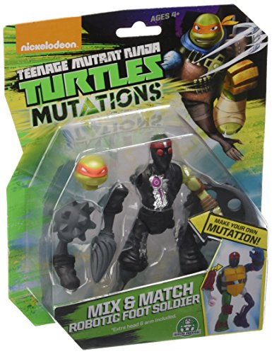 Giochi Preziosi - Tartarughe Ninja, Personaggio Mix & Match Robotic Foot Soldier, Alto 10 cm, Multicolore