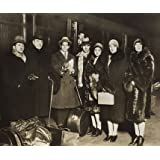 Serge Diaghilev and a group arriving at Liverpool (V&A Custom Print)