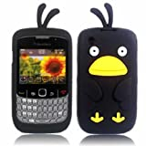 Chicken Silicone Shell Case Cover For Blackberry 8520 9300 Curve 3G / Black