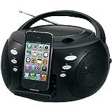 Jensen JISS120I High Quality Audio CD Boombox with iPhone Dock