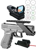 Ultimate Arms Gear Tactical Combo Combination Package Kit Set Pistol Includes Precision Machined Aluminum No Gunsmithing Weaver Picatinny Top & Bottom Rail Pistol Handgun Scope Mount for Sights , Lasers , Lights and Accessories + Tactical