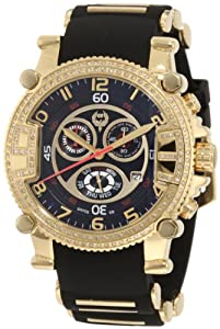 Brillier Men's 02.2.2.1.11.07 Grand Master Tourer Gold-Tone Black Rubber Watch by Brillier