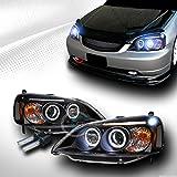 10000K HID XENON BLK HALO LED PROJECTOR HEAD LIGHTS LAMPS 2001-2003 HONDA CIVIC