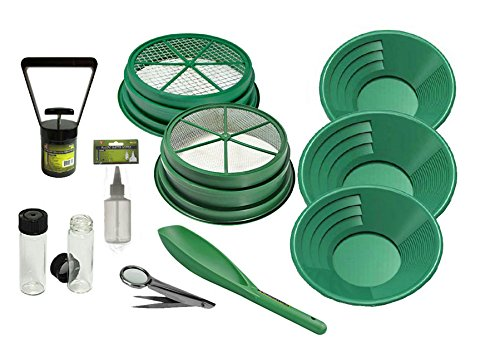 11 pc Prospecting-Mining-Panning Kit- 2- Classifiers 3 Gold Pans,+ MORE!! (Metal Gold Mining Pans compare prices)