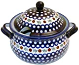 EuroQuest Imports Bunzlauer Polish Pottery 3-Quart Terrine with Lid in Country Blue Pattern