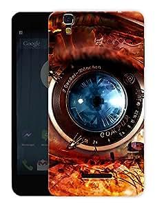 "Humor Gang Photographer Lens Abstract Printed Designer Mobile Back Cover For ""Yu Yureka Plus"" (3D, Matte, Premium Quality Snap On Case)"