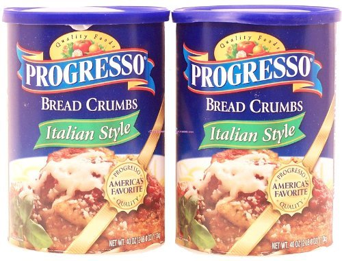 - 	 Progresso bread crumbs, italian style, 2-pack 80oz Canister (Progresso Bread Crumbs compare prices)