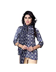 Miss & Mrs Casual Sleeveless Printed Satin Women's Kurti