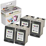 LD © Remanufactured Replacement Ink Cartridges for Hewlett Packard CH563WN (HP 61XL) High-Yield Black (4 Pack) for use in HP Deskjet 1000, 1010, 1050, 1051, 1055, 1056, 1512, 2050, 2510, 2512, 2514, 2540, 2542, 3000, 3050, 3050A, 3051A, 3052A, 3054, 3056A, 3510, 3511, 3512, 3516 & ENVY 4500, 4504, 5530, 5531 & Officejet 4630, 4632 Printers ~ LD Products