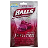 Halls Cough Suppressant/Oral Anesthetic, Menthol, Sugar Free, Black Cherry, 25 drops