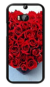 "Humor Gang Roses In A Heart Printed Designer Mobile Back Cover For ""HTC ONE M8 - HTC ONE M8S"" (3D, Glossy, Premium Quality Snap On Case)"