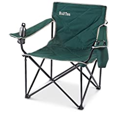 Buy Guide Gear 1 2 - ton Foldable Camp Chair Forest Green by Guide Gear