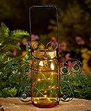 Butterfly Solar Mason Jar Table Lights Lights Spring Garden Patio Decoration
