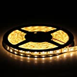 SUPERNIGHT (TM) Waterproof SMD5050 Warm White Density 300 LED Lighting Strip, 5M or 16.4 Ft, 12 Volt
