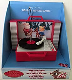 Rudolph The Red-Nosed Reindeer Animated Ornament with Music and Lights by Dyno