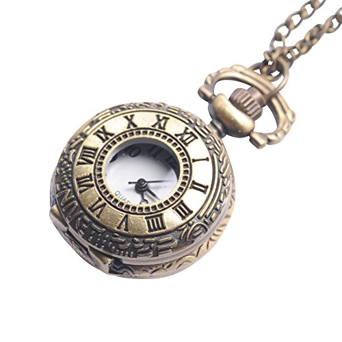 81stgeneration-Womens-Brass-Vintage-Style-Roman-Numerical-Pocket-Watch-Chain-Pendant-Necklace-78-cm