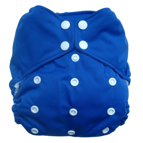 Reusable All-In-One Aio Baby Cloth Diaper One Size Fit 7-33 Lbs (8731)