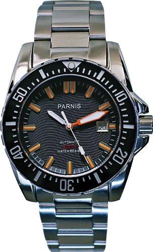 PARNIS Automatik Taucheruhr 20BAR WR Modell 2036 Edelstahlgehäuse Edelstahlarmband Drehlünette MIYOTA Uhrwerk