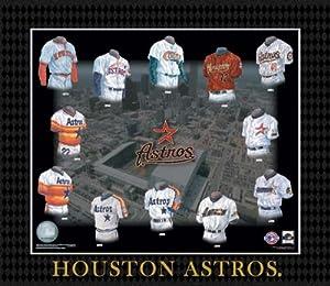 MLB Houston Astros Evolution of The Team Uniform Framed Photograph by ASC