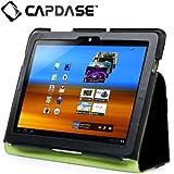 CAPDASE docomo GALAXY Tab 10.1 LTE SC-01D / SAMSUNG GT-P7510専用 Protective Case FolioDot, Black/Green スタンド機能つき ブックタイプ レザーケース 「フォリオ・ドット」 ブラック/グリーン SLSGP7510-P016