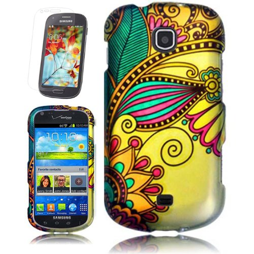 Samsung Galaxy Legend Colorful Antique Flower Cover Snap On Hard Case + Free Screen Protector From [Accessory Arena]