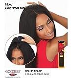 "Sensationnel 100% Remi Human Hair Goddess 3 Way Part Closure 10-12"""