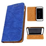 i-KitPit PU Leather Flip Case For Micromax Canvas EGO A113 (BLUE)