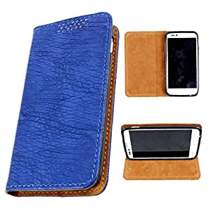 i-KitPit PU Leather Flip Case For Micromax Canvas 2 A110 / A110Q (BLUE)