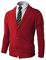 H2H Mens Basic Shawl Collar Knitted S…