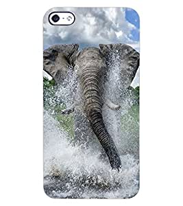 ColourCraft Elephant Design Back Case Cover for APPLE IPHONE 4S
