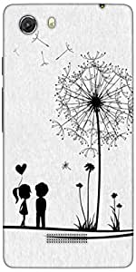 Snoogg Dandelions Child Love Designer Protective Back Case Cover For Micromax...