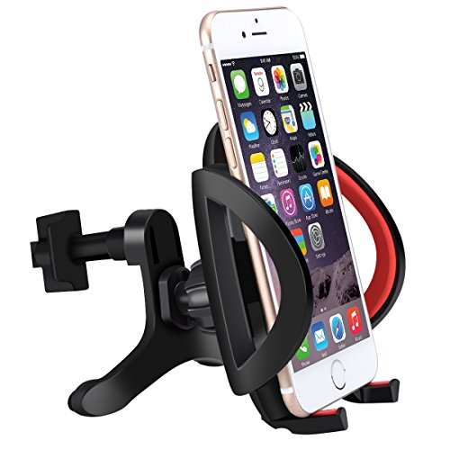 Car Mount,Cell Phone Holder for Car,Universal Smartphone Car Air Vent Mount Holder Cradle With A Quick Release Button For iPhone 6 6+ 6S 6S Plus 5S 5,iPod Touch,Samsung Galaxy S5 S4/3 Note 2/3 (Iphone 6 Plus Car Vent Clip compare prices)