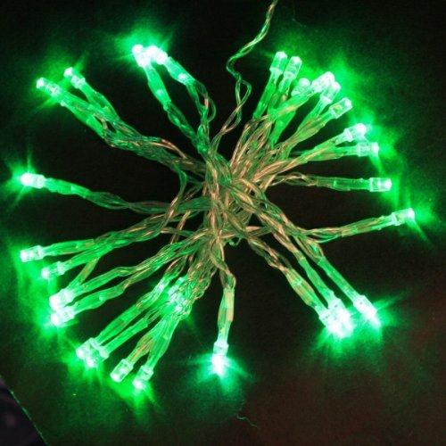 30 Led Battery Outdoor String Light Green J03563