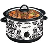 Crock-Pot  Manual 4.5 Qt, Round Damask Slow Cooker