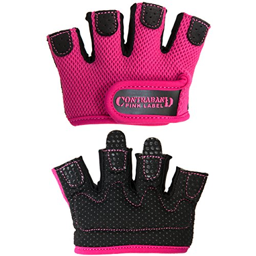 Contraband-Pink-Label-5537-Womens-MICRO-Weight-Lifting-Gloves-w-Grip-Lock-Padding-PAIR