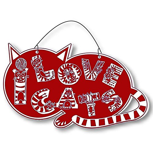 Cool Cats Crazy Alphabet-Cat Laser-Etched 3-In-1 Plaques Ver2 Cat Lady Red front-434947