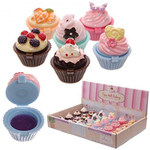STOCK LOTTO 24 PEZZI Lipgloss lucidalabbra a forma di dolcetto cupcake torta colorata