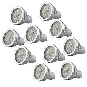 10 x GU10 6W 16 LED 5630 SMD Lámpara Bombilla Foco 6500K Luz Blanco de Bsuper Mart