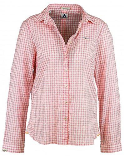 Gaastra camicia da donna Waterway rosa/bianco a quadretti multicolore 3XL