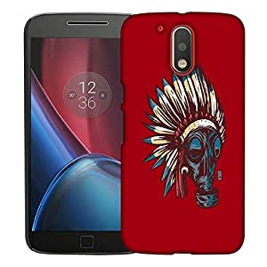 Snoogg Advasi Mask Designer Protective Back Case Cover For MOTO G4 PLUS