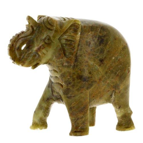 Stoneware Indian Elephant Soap Stone Home Décor 10.2 Cm