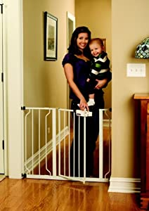 Regalo Easy Step Walk Thru Gate, White