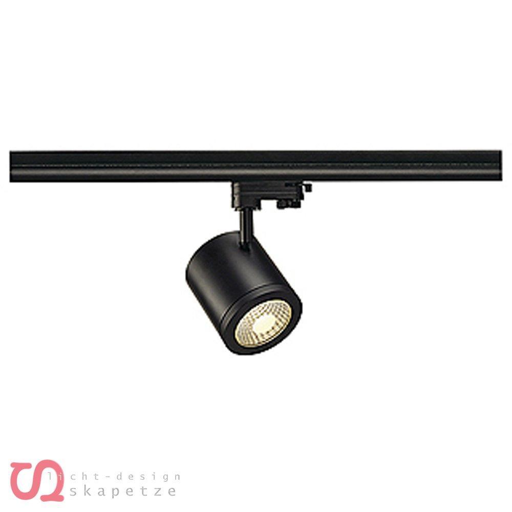SLV Enola_C 9 Spot, rund, 3000 K, 35 grad, inklusive 3 Pin Adapter, 9 W, schwarz 152420