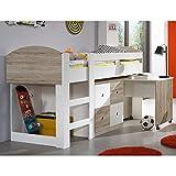 Wimex-326238-Hoch-Kinderbett-Holz-san-remo-eiche-Nachbildung-Absetzungen-alpinwei-204-x-98-x-127-cm