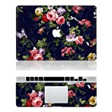 Flower Macbook Decals Macbook Top Decal Front Sticker Macbook Cover Skin for Apple Macbook 11 13 15 Inch Reviews
