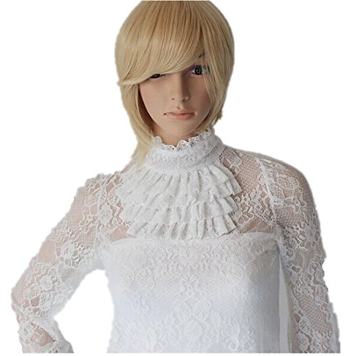 Autek Short Blond Hair Wig for Women Cosplay Party Wigs Synthtic Hair Wigs