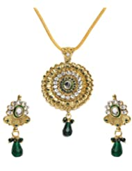 Shining Diva Radial Design Pendant Set For Women