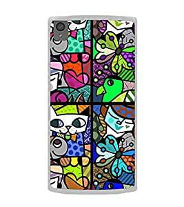 ifasho Modern Art Design Pattern Lot of fish Back Case Cover for OnePlus X