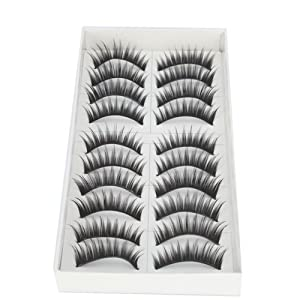 10 Pairs Long False Eyelashes Eyelash 12mm